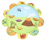 Dinosaur Paradise Play Mat with Stuffed Dinosaur Toy Puzzle for Kids, Extra-Thick Non-Toxic Anti-slip - 74 inches by HugeHug