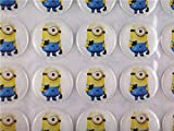 20pcs/lot 1 Inch (25.4mm) Despicable Me Minion Resins Dots Stickers Crystal Epoxy Dome Accessories Diy for Flattened Bottle Caps No.876120