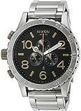 Nixon Men's A0832222-00 51-30 Chrono Analog Display Japanese Quartz Silver Watch
