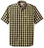 #8: Carhartt Men's Big and Tall Essential Plaid Button Down Collar SS Shirt