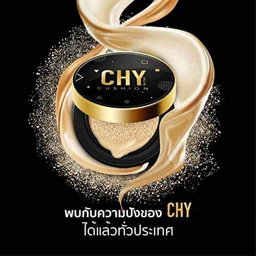 Makeup CHY BB Cushion Matte Foundation long-lasting Sun Protection Control & Long lasting SPF 50PA +++ Net. 15g (Y1 White Skin - Yellow White skin)