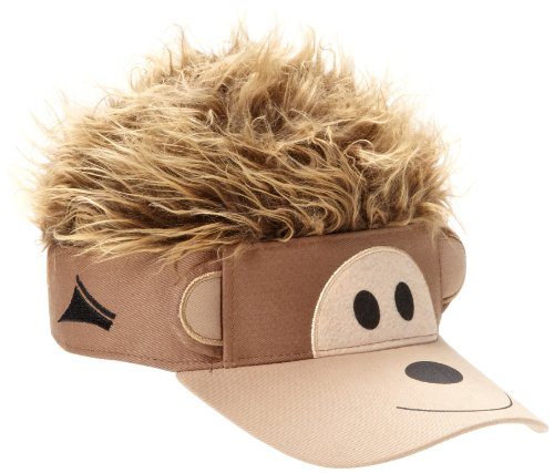Concept One Accessories Big Boys' Flair Hair Visor Monkey Face, Brown, One Size ()