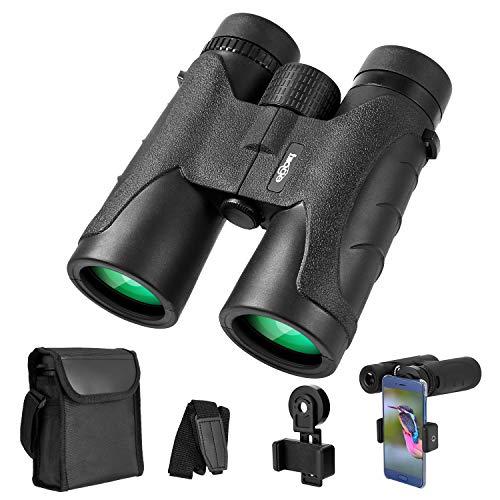 [해외]Binoculars for Adults 10x42 Waterproof Compact BinocularsBAK4 Prism FMC Lens Portable Binoculars for Bird Watching Traveling Stargazing Hunting Concerts Sports / Binoculars for Adults 10x42, Waterproof Compact BinocularsBAK4 Prism ...