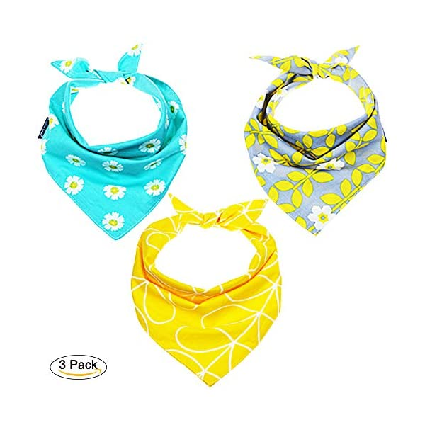 4 Pcs Dog Bandanas Triangle Bibs Adjustable Multi Colored Scarfs Accessories for Pet Dogs and Cats