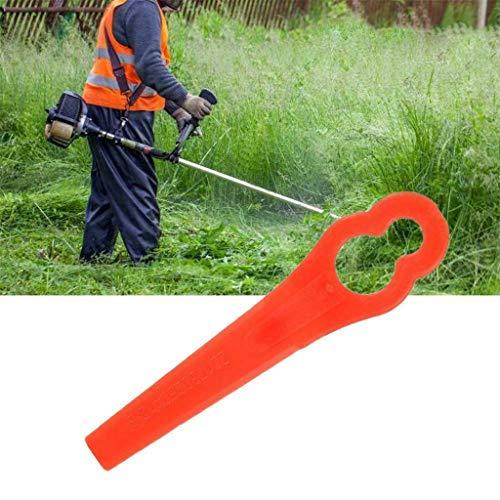 Dergo ☀ 100 Pcs Mower Blades for RT250 Garden Lawn Trimmer Accessories (B)