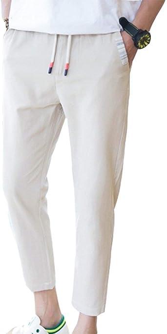ADELINA Pantalones De Algodón para Hombre Pantalones De Algodón Pantalones Ropa para Hombre De Pantalón Slim Pantalones De Deporte: Amazon.es: Ropa y accesorios