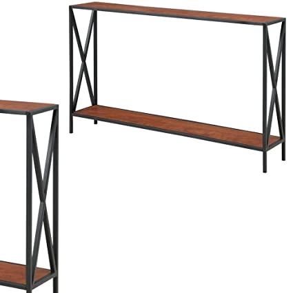 Super Amazon Com Tall Narrow Console Table With Shelf Modern Beatyapartments Chair Design Images Beatyapartmentscom