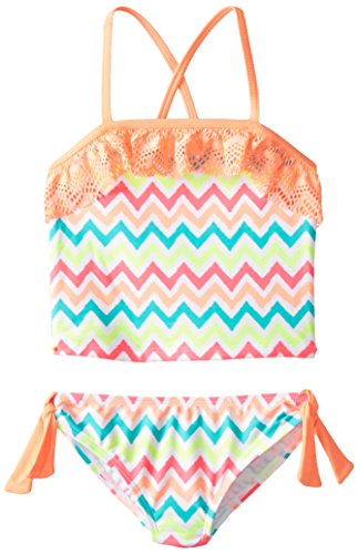 Angel Beach Little Girls' Techno Tribe Tankini Set, Multi, 6