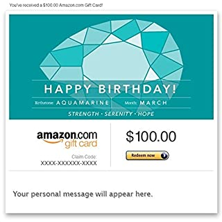 Amazon Gift Card - Email - Birthday Birthstone: March (Aquamarine) (B00N5945HM) | Amazon price tracker / tracking, Amazon price history charts, Amazon price watches, Amazon price drop alerts
