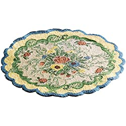 Collections Etc French Country Floral Accent Rug, Blue