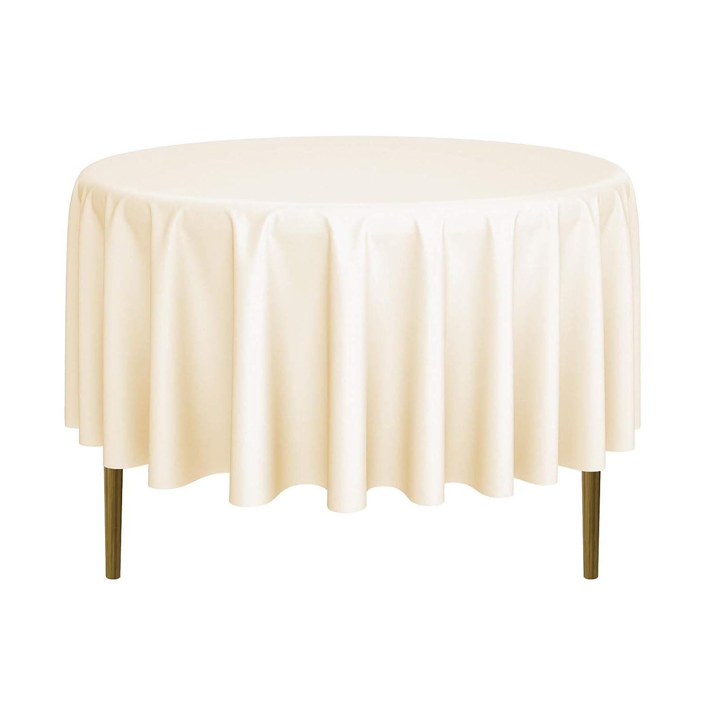 Lanns Linens 10 Premium 70 Round Tablecloths for Wedding//Banquet//Restaurant Polyester Fabric Table Cloths Black