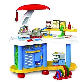 kb deao cocina de juguete con luces y colores para nios azul