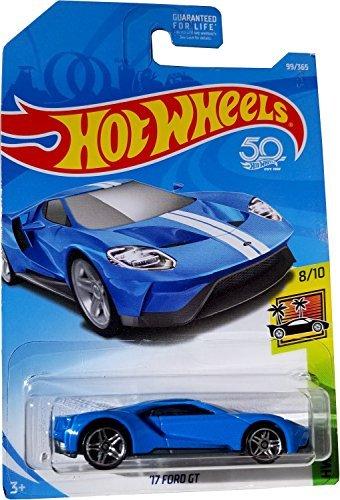 - Hot Wheels 2018 50th Anniversary HW Exotics '17 Ford GT 99/365, Blue