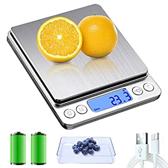 Portable Electronic kitchen Food Scales 3000g//0.1g Digital Scale 500g 0.01
