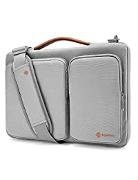 Tomtoc 13 - 13.3 Inch Laptop Shoulder Bag, 360° Protective Laptop Sleeve Case for 13.3 Inch MacBook Air | MacBook Pro Retina 2012-2015 | Surface Book | Chromebook | Tablet, Light Gray