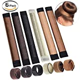 Bysiter Hair Styling DIY Bun Maker Hair Bundles Tools French Twist Donut Hairstyle kits for Women Girls 6 Shades,Blond, Chestnut Color to Brunette (6 PCS)