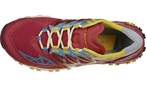 La Sportiva Bushido Woman Chaussures de Trail Femme, Bleu, 43 EU Multicolore