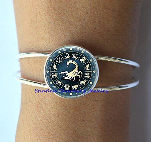 Scorpio Bracelet Scorpion Bracelet Jewelry, Scorpio Jewelry, Scorpion Charm Bracelet,boyfriend jewelry,Bracelet men,gift idea,astrology gift ()