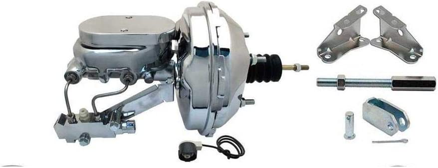 "8/"" Dual Zinc Power Brake Booster Kit GM AFX Body Bottom Disc//Disc NEW"