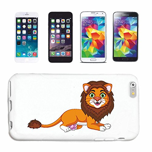 "cas de téléphone iPhone 7 ""MERRY LION AVEC MANE AMERICAN LION STAR INSCRIVEZ ROBBERY BIG CAT LION ANIMAL"" Hard Case Cover Téléphone Covers Smart Cover pour Apple iPhone en blanc"