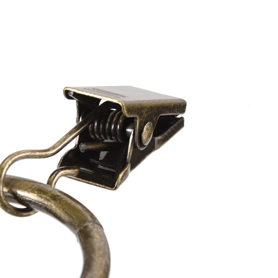 Miki/&Co Anillos argolla Clip con Gancho de Metal de 1,25 Pulgadas de di/ámetro Interior de 3,5 mm de Espesor del Anillo de Cortinas para la Ventana Barras de Cortina de Color Bronce 24 Piezas