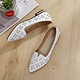 GilesJones Flats Loafers Women,Casual Hollow Flowers Pointed Toe Dress Ballet Shoes