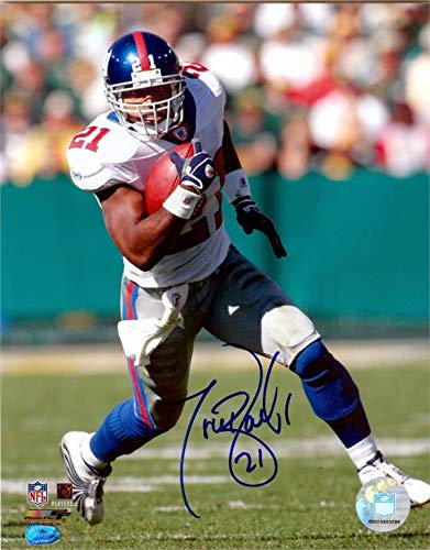 Tiki Barber autographed photo (New York Giants Teams All Time Leading Rusher) size 8x10 image #9 ()