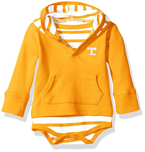 Tennessee Volunteers Ncaa Stripes - Two Feet Ahead NCAA Tennessee Volunteers Children Unisex Stripe Hooded Creeper,12Mo,Lt Orange