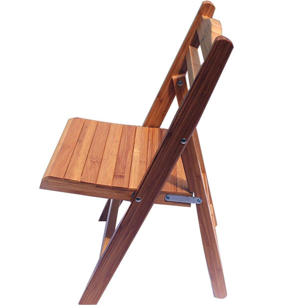 ZEMIN ダイニングチェア椅子の木の木製折り畳み 椅子ソファシートスツールテーブル背もたれ折りたたみ可能なクリエイティブな竹の脚コンピュータ、ログカラー、3つの可能性 ( サイズ さいず : 31.5x26x55CM ) B0797HRYN9 31.5x26x55CM 31.5x26x55CM
