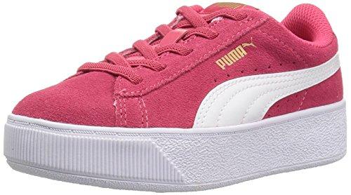 PUMA Girls' Vikky Platform Velcro Sneaker, Paradise Pink White, 11 M US Little (Kids Platform)