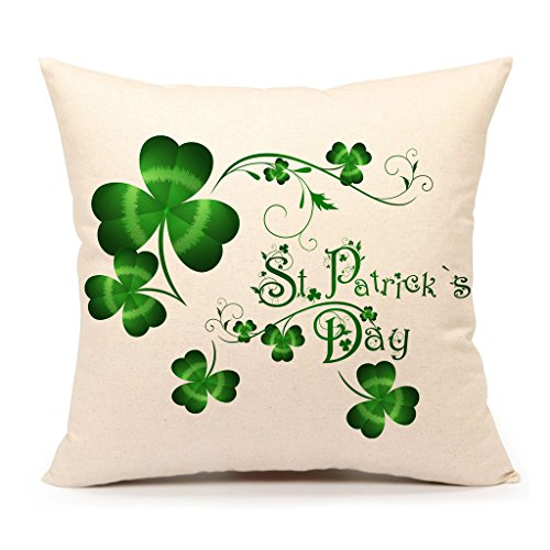 St. Patricks Day Green Home Decor Throw Pillow Case Cushion