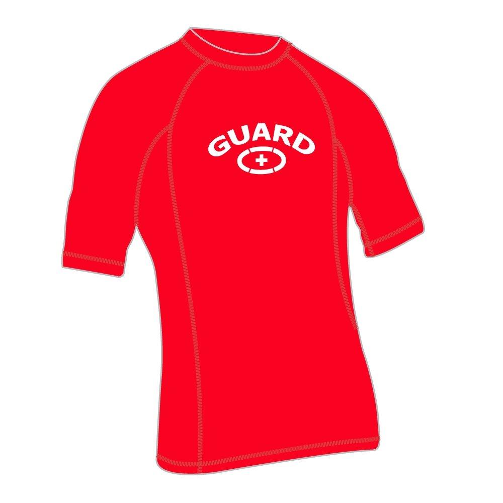 Adoretex Herren Guard Kurzarm UPF 50 + rushgard Swim Shirt
