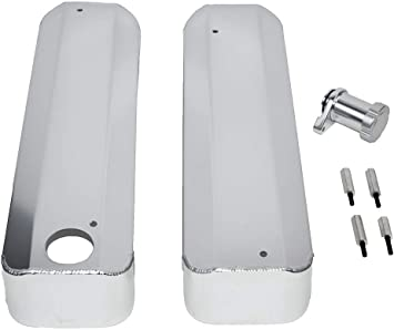A-Team Performance Fabricated Aluminum Valve Covers Compatible With GM Chevy/LSX LS1 LS3 LS6 Clear Anonized