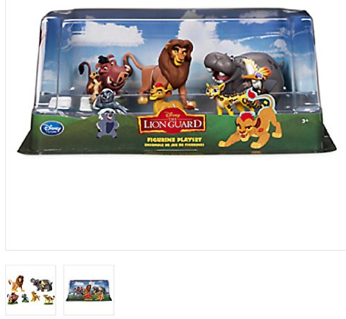 The Lion King - Lion Guard Birthday Cake Topper Figure Set Featuring Kion, Simba, Fuli, Timon with Pumbaa, Beshte with Ono Bunga and Other Decorative Themed Accessories - Includes All - Lion The Supplies King Party