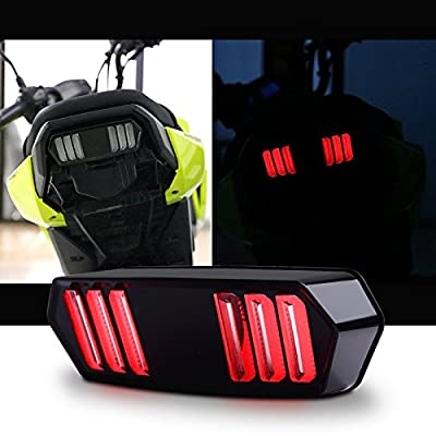 MFC PRO Integrated LED Turn Signal + Tail Light for 13-19 Honda Grom125 / MSX125 SF / CBR650F / CTX700 / CTX700N (Model A): Automotive