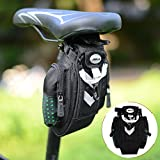 Motoraux Outdoor Cycling Bike Bicycle Saddle Bag Under Seat Packs Tail Pouch, Installation Free Bike Bag with Velcro Strap