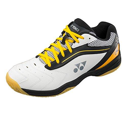 Yonex Shoes Badminton (Yonex Power Cushion SHB 65R Men's Indoor Court Shoes - Black/Yellow (10.5))