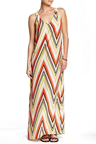 Nell Co Sorrel Silk Maxi Dress For Women In Yellow Orange Pucci, 0 (Sorrel Stripes)