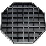 "Great credentials GC-DT-6 Coffee Countertop Octagon Drip Tray - 6"" - Black"