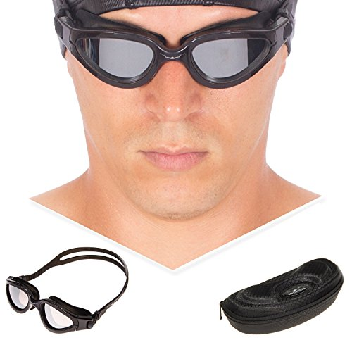 Unisex Anti-fog Competition Swimming Goggles(Purple) - 3