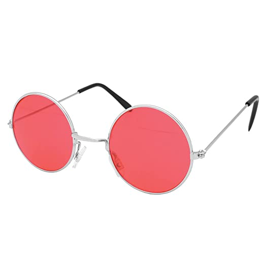 4c96059bdbb Image Unavailable. Image not available for. Color  Red Round Lennon  Sunglasses