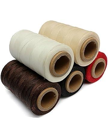Cordón de hilo encerado de cuero 150D 1 mm 50 metros 5 unidades durable para bricolaje