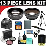 2x Digital Telephoto Professional Series Lens + 0.5x Digital Wide Angle Macro Professional Series Lens + 3 Piece Digital Camera Filter Kit + Lens Adapter Tube (If Needed) + SD 2GB Memory Card + Deluxe DB ROTH Super Savings Accessory Kit For The Canon XS,