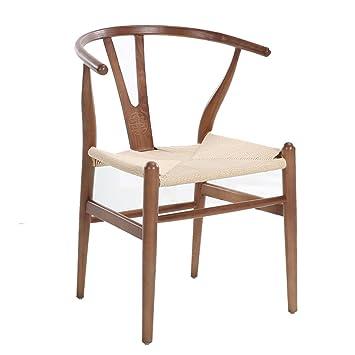 Estilo nórdico Sillas de madera maciza Silla moderna de estilo minimalista Silla de restaurante Elegante silla de respaldo de reposabrazos de estilo chino ...