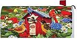 '' Patriotic Birdhouses '' - Patriotic - Mailbox Makeover - Vinyl Magnetic Cover