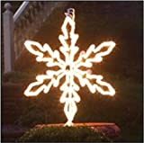 By GKI/BethlehemLighting 36'' Lighted White Hanging Snowflake Christmas Decoration - Clear Lights