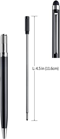 4.5 Inches 11.6 Cm Replaceable Black Ball Pens Refills Slim Series Stylus Of
