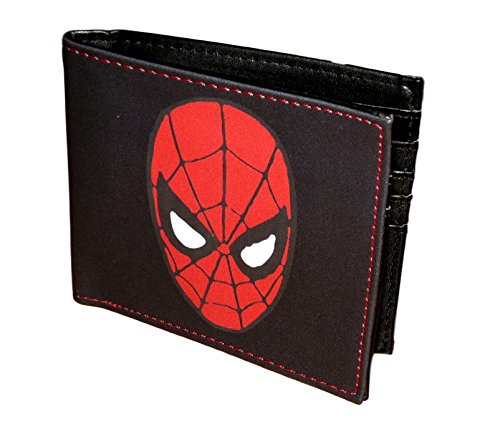 Marvel Comics Character Leather Bifold Wallet with Gift Tin Box (Spiderman (Marvel Comics Characters)