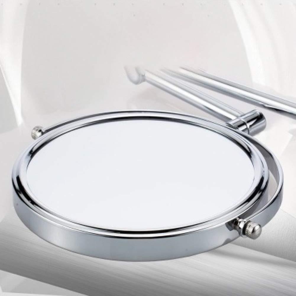 Homiki Wall Mounted Maquillaje Espejo Plegable de Doble Cara de 6 Pulgadas Espejo Giratorio Extensible Ba/ño Espejo de Maquillaje Espejo de Aumento port/átil para el hogar