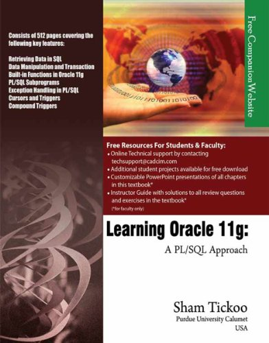 Learning Oracle 11g: A PL/SQL Approach Pdf